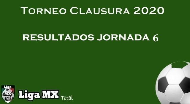 Resultados Jornada 6 del Clausura 2020 de la Liga MX