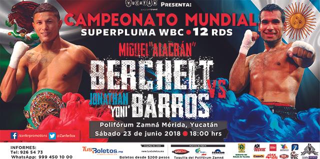 """Miguel """"El Alacrán"""" Berchelt vs Jonathan Víctor """"Yoni"""" Barros en Vivo – Box – Sábado 23 de Junio del 2018"""