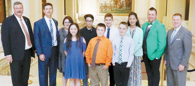 Leedey Academic Teams Honored at State Capitol