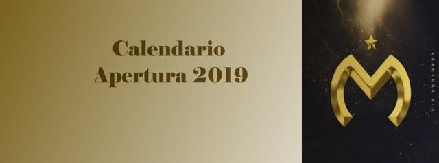 Calendario de Monarcas Morelia para el Apertura 2019