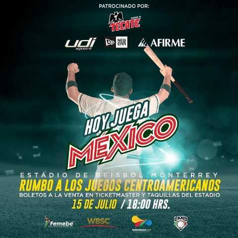 México vs Colombia en Vivo – Beisbol Amistoso – Rumbo a los Juegos Panamericanos – Domingo 15 de Julio del 2018
