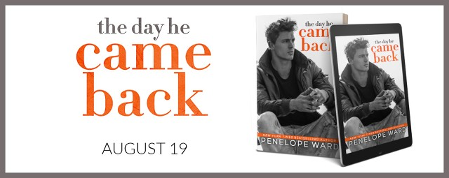 Cover Reveal ~ The Day He Came Back by Penelope Ward