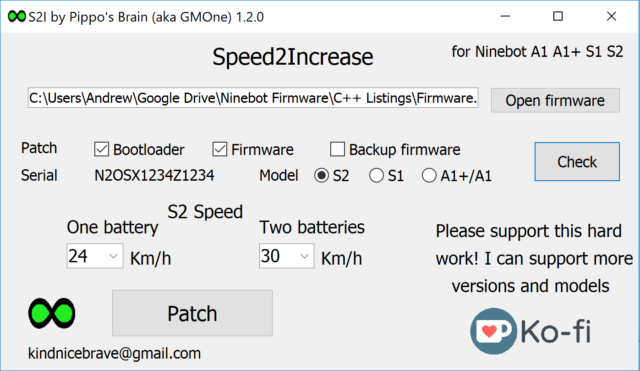 Speed2Increase and how to change max Ninebot speed