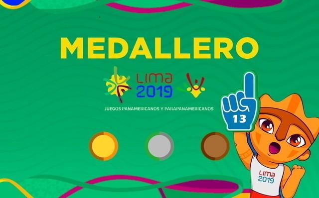 Así va el Medallero – Dia 13- Juegos Panamericanos Lima 2019
