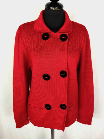 LUISA SPAGNOLI Cardigan Maglione Donna Lana Vergine Woman Wool Sweater Sz.L  - 46 6a86efed6dd