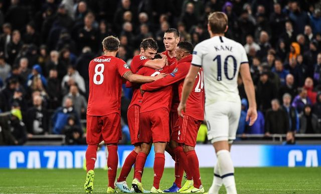 Resultado Tottenham vs Bayern Munich – Fase de Grupos -J2-  Champions League