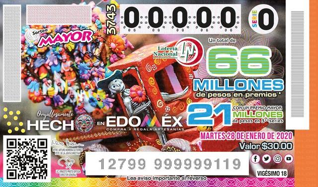 Loteria Nacional Sorteo Mayor No. 3743 en Vivo – Martes 28 de Enero del 2020