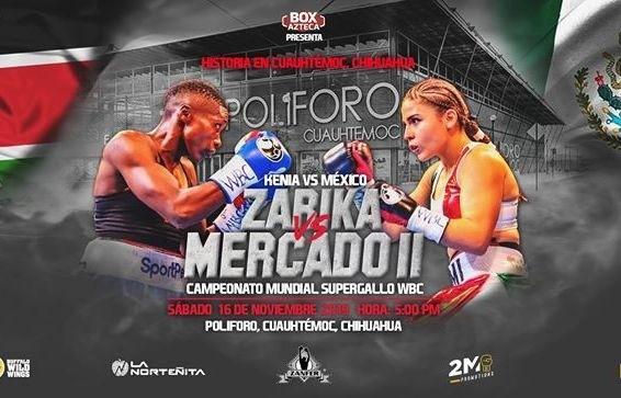 """Fatuma Zarika vs Yamileth """"Yeimi"""" Mercado en Vivo – Box – Sábado 16 de Noviembre del 2019"""