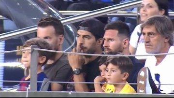 Mateo Messi festeja al Betis