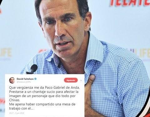 Faitelson se avergüenza de haber trabajado con Paco Gabriel de Anda