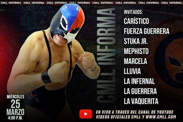 CMLL Informa en Vivo – Miércoles 25 de Marzo del 2020