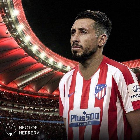 Héctor Herrera confirma en redes su llegada al Atlético de Madrid