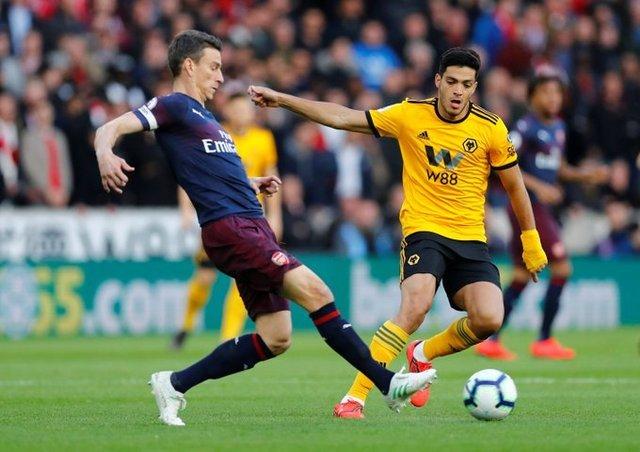 Wolverhampton de Raúl Jiménez, vence sin complicaciones al Arsenal