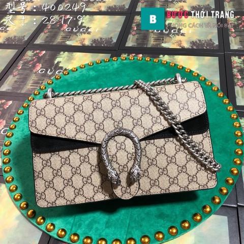 Túi Xách Gucci Dionysus Small Size 28 cm, khóa đầu rồng, màu đen
