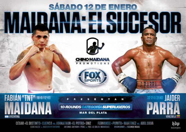 Fabian Andres Maidana vs Jaider Parra en Vivo – Box – Sábado 12 de Enero del 2019