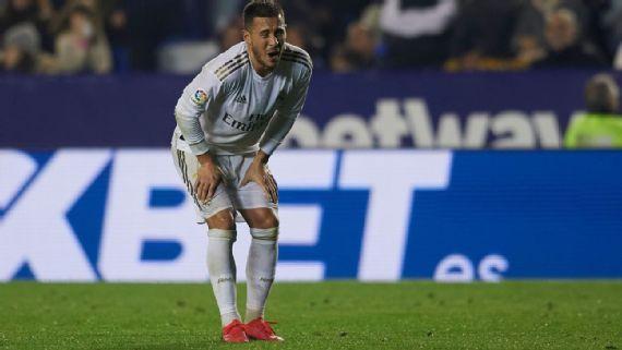Eden Hazard del Real Madrid vuelve a lesionarse