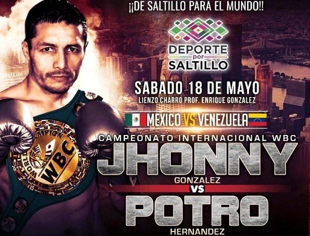 Jhonny González vs afael «El Potro» Hernández en Vivo – Box – Sábado 18 de Mayo del 2019