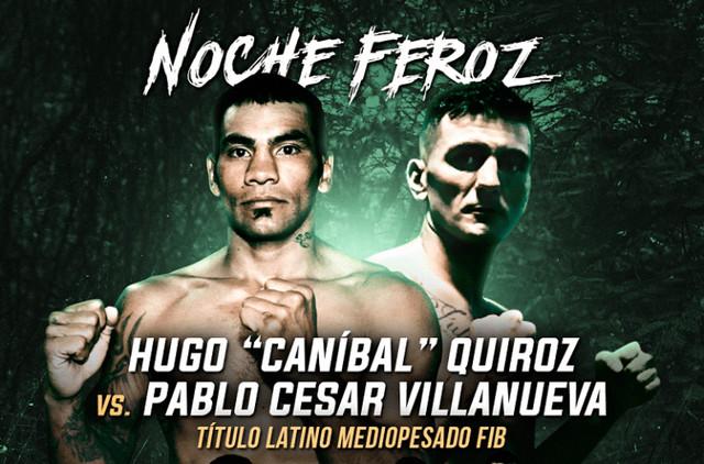 Hugo David Quiroz vs Pablo Cesar Villanueva en Vivo – Box – Sábado 19 de Octubre del 2019