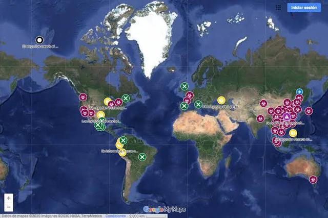 Mapa con la expansión del Coronavirus en México y el Mundo en Vivo – Viernes 4 de Diciembre del 2020