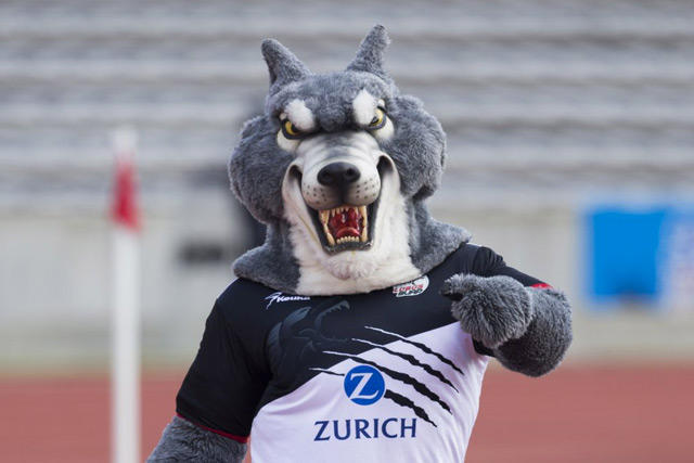 Mascota de Lobos BUAP da  miedo