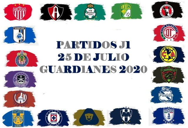 Partidos del Torneo Guard1anes 2020 – Sábado 25 de Julio del 2020
