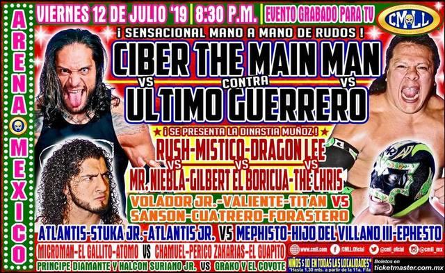 Lucha Libre de la CMLL desde la Arena México en Vivo – Viernes 12 de Julio del 2019