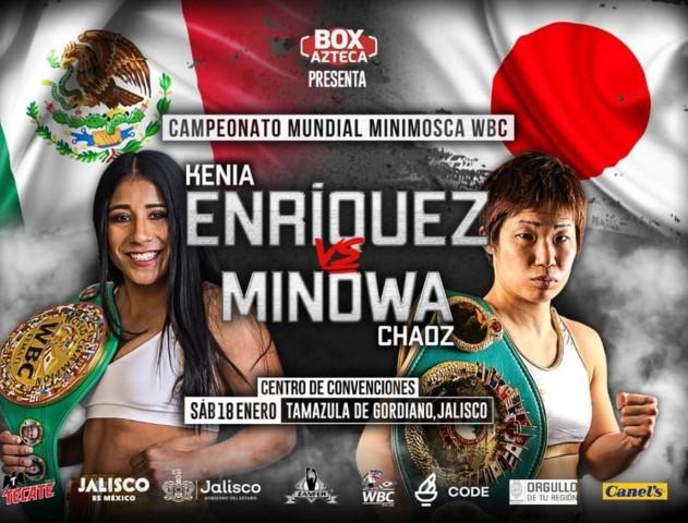 Kenia Enríquez vs Chaoz Minowa en Vivo – Box – Sábado 18 de Enero del 2020