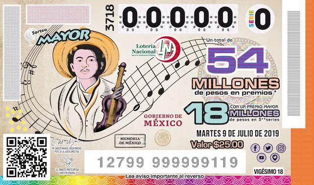Loteria Nacional Sorteo Mayor No. 3718 en Vivo – Martes 9 de Julio del 2019