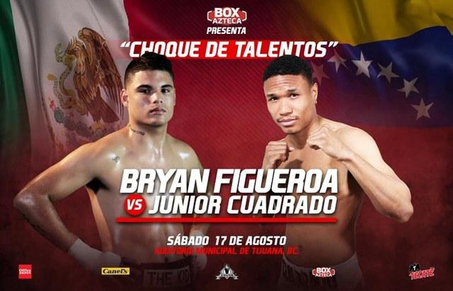 "Bryan ""The Kid"" Figueroa vs Junior Cuadrado en Vivo – Box – Sábado 17 de Agosto del 2019"