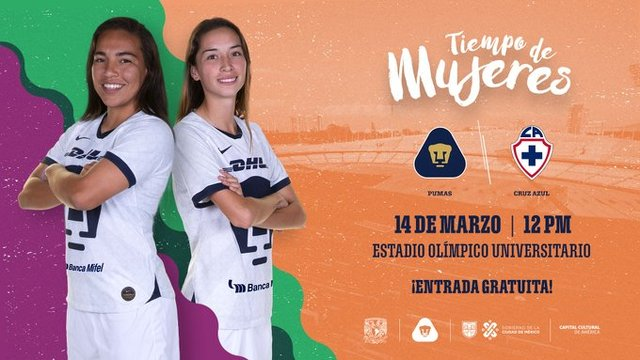 Pumas femenil jugará por primera vez en el olímpico