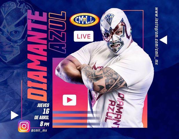 Insta Live de CMLL con el Luchador Diamante Azul en Vivo – Jueves 2 de Julio del 2020