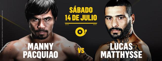 Manny Pacquiao vs Lucas Martin Matthysse en Vivo – Box – Sábado 14 de Julio del 2018