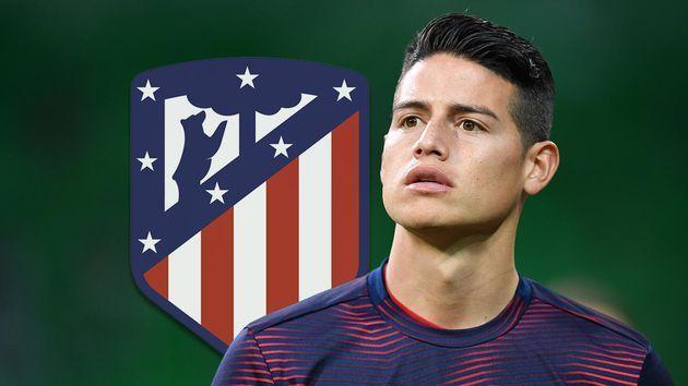 James regresaría a Madrid, pero al Atlético de Madrid