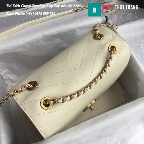 Túi Xách Chanel Envelope Flap Bag siêu cấp màu trắng 22cm - A57431