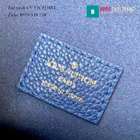 Túi Xách LV VICTOIRE siêu cấp màu xanh blue size 26cm - M44038