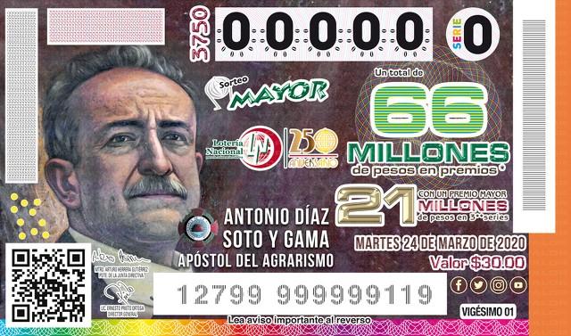 Loteria Nacional Sorteo Mayor No. 3750 en Vivo – Suspendido! – Martes 31 de Marzo del 2020