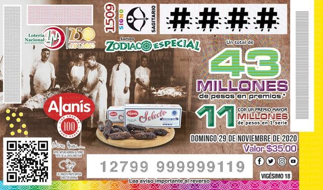Loteria Nacional Sorteo del Zodiaco No. 1509 en Vivo – Domingo 29 de Noviembre del 2020