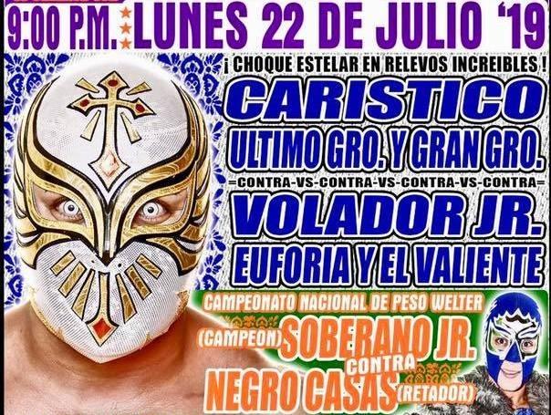 Lucha Libre CMLL desde la Arena Puebla en Vivo – Lunes 22 de Julio del 2019