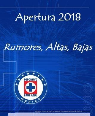 Rumores, Altas, Bajas del Cruz Azul para el Apertura 2018