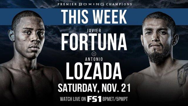 Javier Fortuna vs Antonio Lozada Torres en Vivo – Box – Sábado 21 de Noviembre del 2020