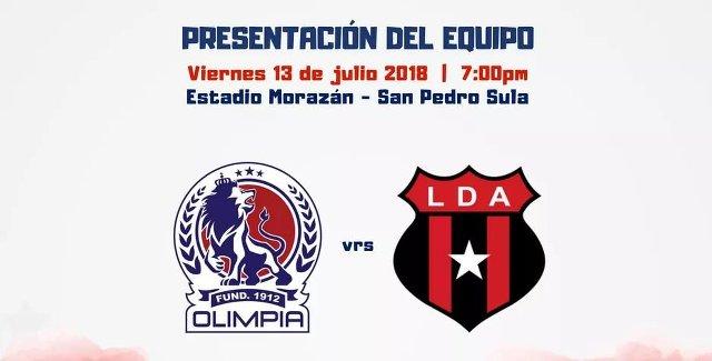 Olimpia vs Alajuelense en Vivo – Partido Amistoso – Viernes 13 de Julio del 2018