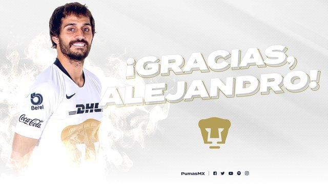 Pumas da de baja a Alejandro Arribas