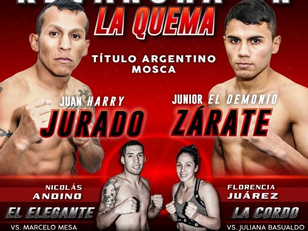 Juan Jose Jurado vs Junior Leandro Zarate en Vivo – Box – Sábado 17 de Agosto del 2019