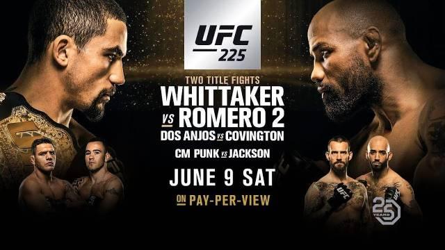 Robert Whittaker vs Yoel Romero en Vivo – Pelea 2 – UFC 225 – Sábado 9 de Junio del 2018