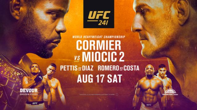 UFC 241 en Vivo – TV canal, fecha, hora y cartelera – Cormier vs Miocic 2 – Sábado 17 de Agosto del 2019