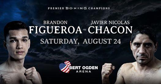 Brandon Figueroa vs Javier Nicolas Chacon en Vivo – Box – Sábado 24 de Agosto del 2019