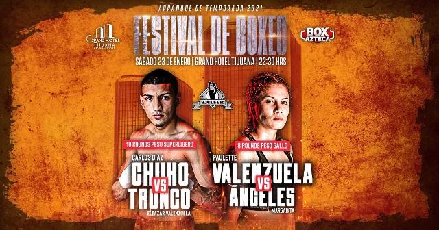 Carlos 'Chuko' Díaz vs Eleazar 'Tronco' Valenzuela en Vivo – Box – Sábado 23 de Enero del 2021