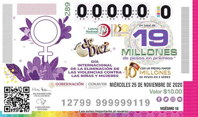 Loteria Nacional Sorteo de Diez No. 289 en Vivo – Miércoles 25 de Noviembre del 2020