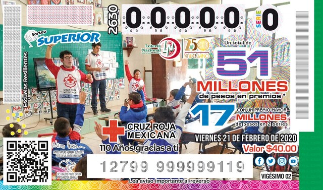 Loteria Nacional Sorteo Superior No. 2630 en Vivo – Viernes 21 de Febrero del 2020
