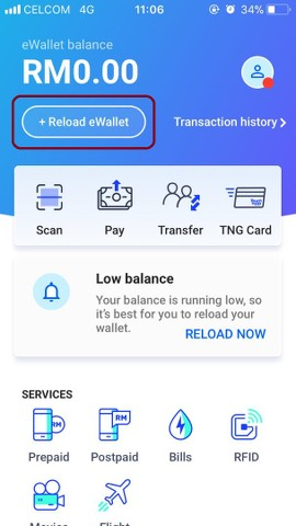Image result for how to reload touch n go ewallet